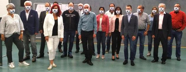 Konstituierende Sitzung mit Schutzmaske