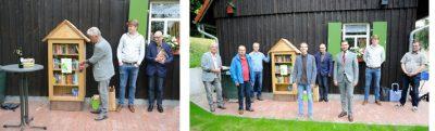 Grüne Heinersreuth weihen Bücherschrank in Altenplos ein