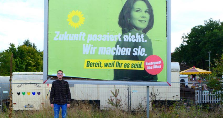 Wahlplakat Bundestagswahl 2021 Grüne Heinersreuth